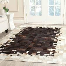 leather area rugs