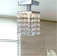 flush mount mini chandelier elegant ceiling mounted crystal chandelier or mini style 1 light semi flush