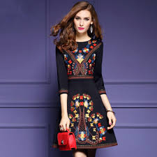 mexican embroidered dress woman black mexican dress boho chic dresses las tunic boho style dresses