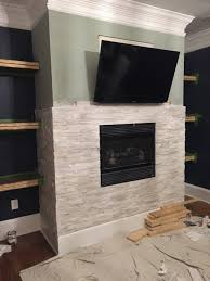 glass tile fireplace surround quality 32 fire place stone wall tiles ideas