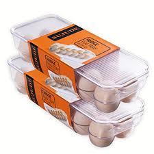 flexzion ceramic 6 cups egg tray half dozen stoneware porcelain egg holder container r keeper storage organizer for countertop
