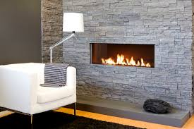 Extraordinary Modern Living Room Decors Added White Fabric Couch Also White  Shade Floor Lamps Feat Modern Built In Fireplace Hearth Ideas