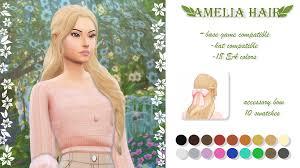 AMELIA HAIR | G. on Patreon | Sims, Sims 4, Sims 4 mm