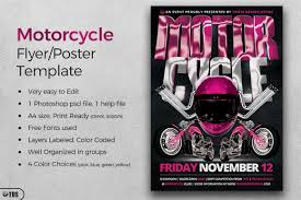 motorcycle club flyers motorcycle flyer template by tdstore design bundles