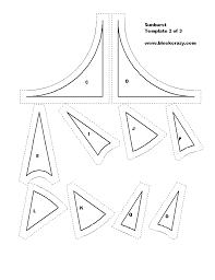 Free Patchwork Quilt Block Patterns, Printable Blocks and Templates & Sunburst, Template 2 of 3 Adamdwight.com