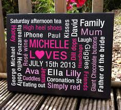 personalised wall canvas words