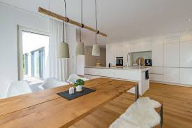 Esszimmer Modern Im Landhausstil Mit Offener Küche