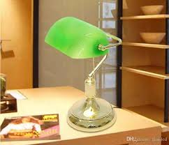 material glass metal color golden green glass shade size 30x35cm bulb 220v e27 bulb including vintage bank table lamps