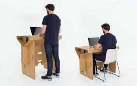 cardboard furniture design. view in gallery refold cardboard standing desk 2 creative 10 revolutionary furniture and gadget designs design c