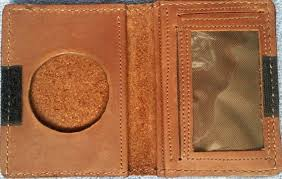 leather badge wallets custom made