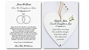 personalised son and daughter in law wedding card and heart plaque Wedding Card Verses For Son And Daughter In Law personalised son and daughter in law wedding card and heart plaque gift bride * groom wedding card messages for son and daughter in law