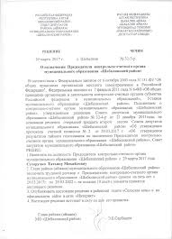 Контрольно счетный орган Решение о назначении председателя
