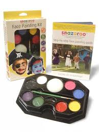 snazaroo professional face painting paint 50 faces make up guide 9 colours kit