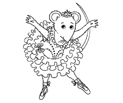 Small Picture Angelina Ballerina Bowing After Show Coloring Pages Batch Coloring