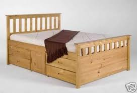 King size captains bed, with 8 drawers and 2 storage cupboards ...