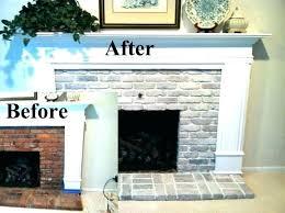 painting a brick fireplace and white brick fireplace brick fireplace surround white brick fireplace before and after whitewash fireplaces painting mantels