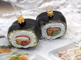 Sushi Christbaumschmuck Weihnachten Glas