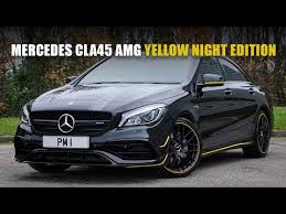 How does the cla 45 compare to the a 45? Mercedes Cla45 Amg Yellow Night Edition Youtube