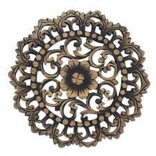 decorative wooden wall relief panel
