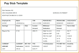 Free Paystub Template Excel Download Word Pay Stub Template Pay Stub