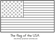 Small Picture Week 2 usa flag coloring page american flag outline Summer