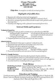 Medical Receptionist Resume Resume Template Directory
