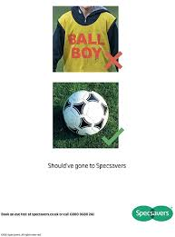 specsavers launch new advert after eden hazard ball boy incident  clever the specsavers advert that appeared in a number of national newspapers this morning