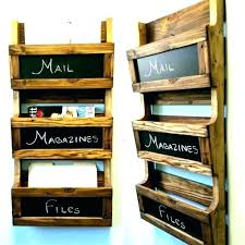 hanging mail holders wall rack holder diy organizer wooden mail holder wall