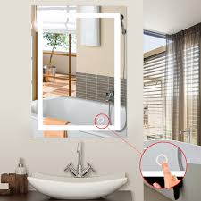 Hotel Bathroom Lighted Mirror Us 29 11 16 Off Led 5050 Wall Bathroom Lighted Mirror Wall Mount Makeup Mirror With Touch Button New For Home Hotel Bathroom Stylish Hwc In Interior