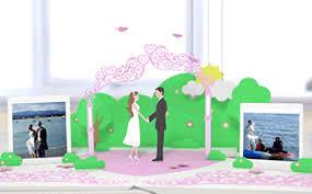 Popup Book Template Wedding Album Pop Up Book Flexible Duration En Renderforest