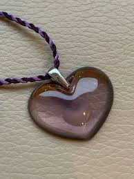 a la folie amoureuze lila lalique heart pendant necklace in box with certificate