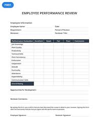 Easy Performance Review Template A Professionally Designed Template You Can Use To Make A Performance
