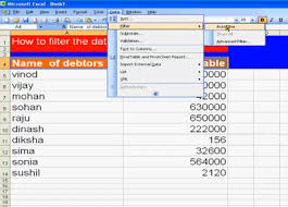 How To Filter Debtors List In Ms Excel Accounting Education