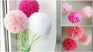 Tissue Paper Flower Tutorials How To Make Round Tissue Paper Flower Diy Paper Craft