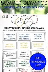 olympic sports activities for kids summer olympics printable 2