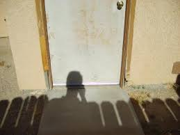 how to fix exterior door frame partially