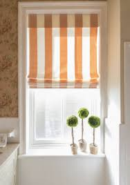 bathroom window designs. Striped Roman Shade Bathroom Window Designs