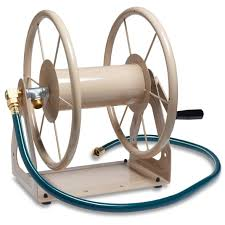 Amazon.com : Liberty Garden Products 703-1 Multi-Purpose Steel Wall and  Floor Mount Garden Hose Reel, Holds 200-Feet of 5/8-Inch Hose - Tan : Garden  & ...