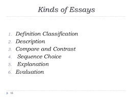 writing an academic essay 15 16 kinds of essays 1 definition classification