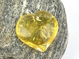 amber heart pendant ag 9 98g