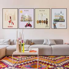 wall art paintings for living room inspirational 2018 7 modern abstract world city travel bedroom wall