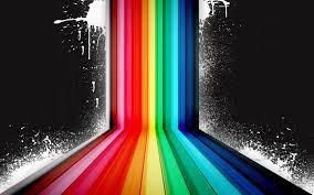 Wallpaper 4k Dark Rainbow Vector Wallpaper