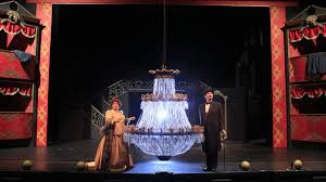 phantom of opera the chandelier flanked by co stars anne marie and paul fanning picture