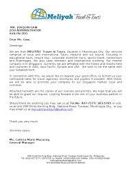 Request Letter Of Contracted Rates Travel Agency Business