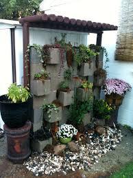 cinder block retaining wall garden on cinder block gardening ideas