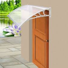 parkland 30058p door canopy awning shelter roof front back porch shade patio rain cover white