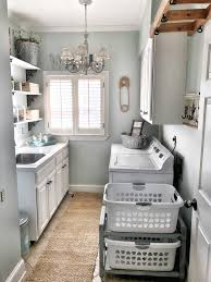 Make wooden cart for existing laundry baskets! Palladian Blue by Benjamin  Moore IG