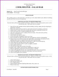 Cook Job Description For Resume Restaurant Kitchen Resume Sample Fresh Dishwasher Job Description 69