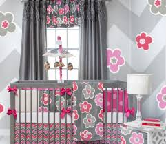 cute baby girl room themes. Wonderful Cute Fascinating Baby Girl Room With Grey Curtain And Drum Shape White Table  Lamp Decor Idea Inside Cute Themes M