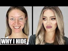 why i hide my ugly face behind makeup